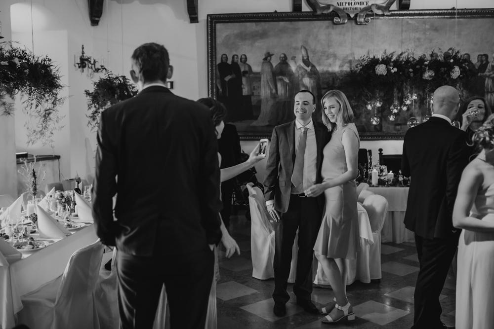 Ślub na zamku królewskim w Niepołomicach-113