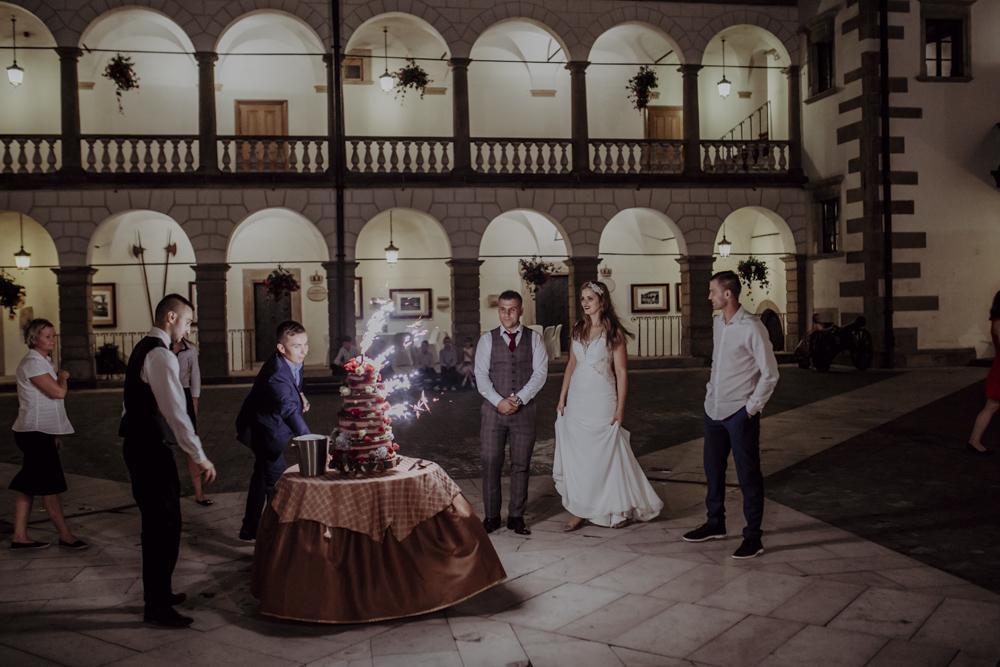 Ślub na zamku królewskim w Niepołomicach-182