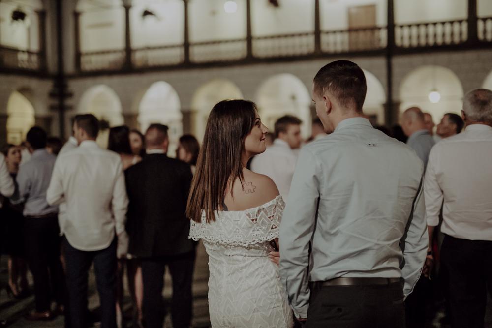 Ślub na zamku królewskim w Niepołomicach-190