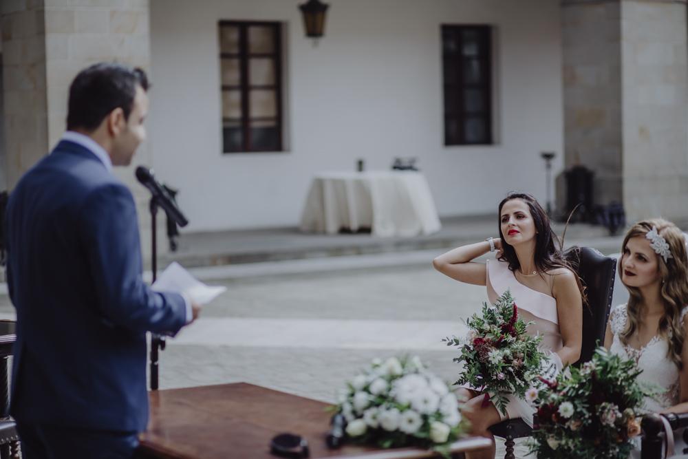 Ślub na zamku królewskim w Niepołomicach-79