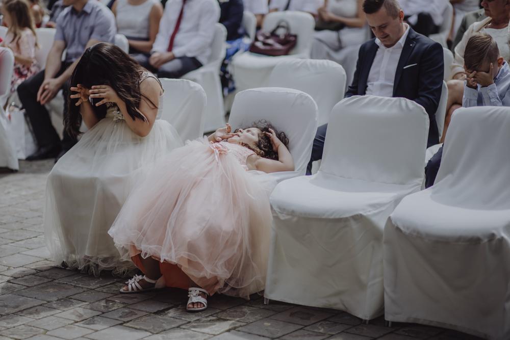 Ślub na zamku królewskim w Niepołomicach-80