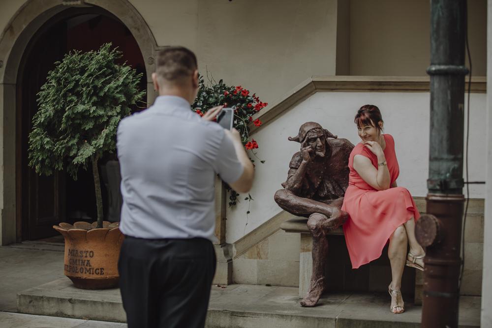 Ślub na zamku królewskim w Niepołomicach-122