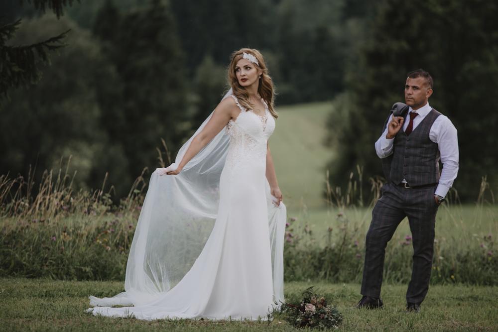 Ślub na zamku królewskim w Niepołomicach-235