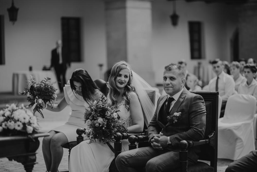 Ślub na zamku królewskim w Niepołomicach-69