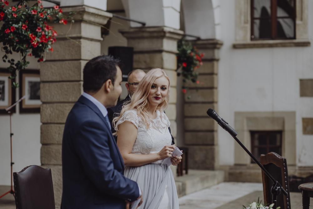 Ślub na zamku królewskim w Niepołomicach-76