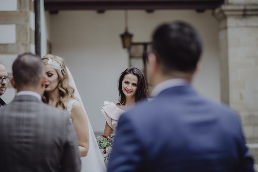 Ślub na zamku królewskim w Niepołomicach-84